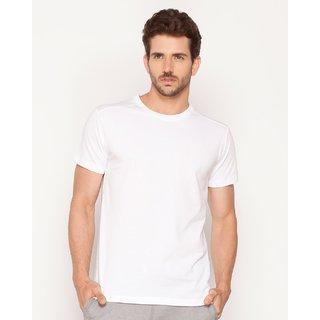 Plain White Round T-shirt