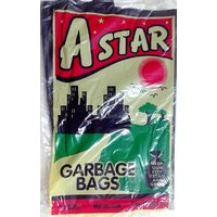 A-Star Disposable Garbage Trash Waste Dustbin Bags - Medium - 19x21 In - 30 Pc