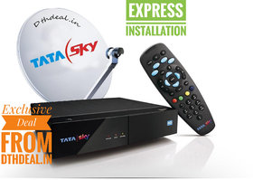 Tata Sky HD connection All India(1 Month Dhammal mix HD pack with Express Installation)