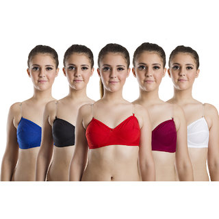BeautyAid Multicolor Non- Padded Bra (Pack of 5)