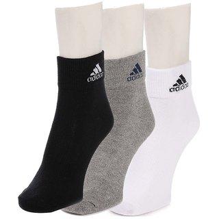 Adidas Multicoloured Ankle Socks Pack of 3