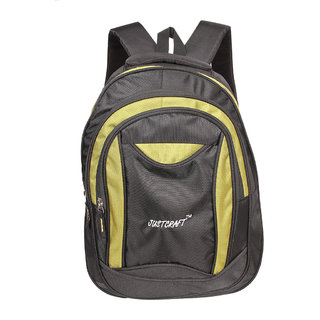 Justcraft Jupiter Black and Parrot Green 25 Liters Backpack