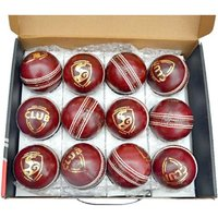 SG Club Cricket Ball - Size 5, Diameter 2.5 cm  (Pack of 12, Red)