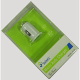 Aksaki Soulmate Micro Auto Charger Dual USB Port For Iphone & Mobile Phone(White)