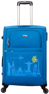 Timus Salsa Ocean Blue Check In 65 Cm 4 Wheel Strolley Suitcase For Travel