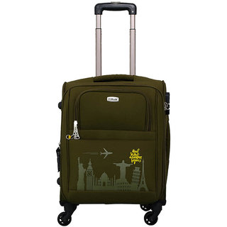 Timus Salsa Military Green Cabin 55 Cm 4 Wheel Strolley Suitcase For Travel