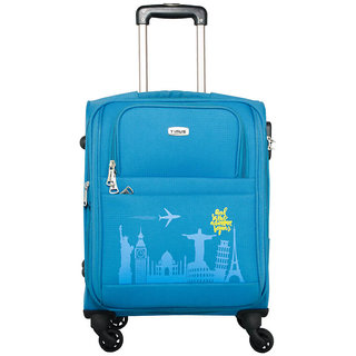 Timus Salsa Ocean Blue 55 CM 4 Wheel Strolley Suitcase For Travel ( Cabin Luggage) Expandable  Cabin Luggage - 20 inch (Blue)