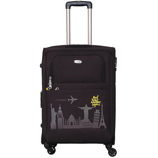 Timus Salsa Graphite 65 CM 4 Wheel Strolley Suitcase For Travel ( Check-in Luggage) Expandable  Check-in Luggage - 24 inch (Grey)