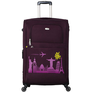 Timus Salsa 75cm Wine 4wheel strolley suitcase Check-in luggage for travel Expandable  Check-in Luggage - 28 inch (Wine)