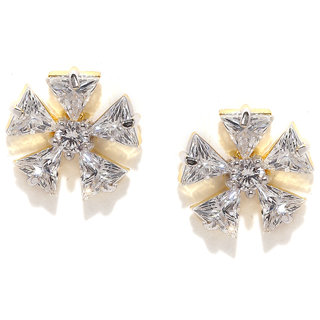Real Diamond Look Adorable Stud Earrings by Zaveri Pearls - ZPFK5401