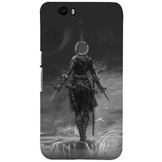 Fuson Designer Phone Back Case Cover Huawei Nexus 6P ( The Warrior Ready To Attack )