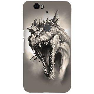 Fuson Designer Phone Back Case Cover Huawei Nexus 6P ( The Roaring Dragon Head )