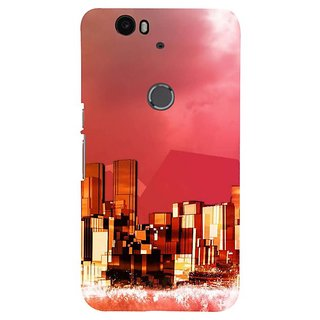 Fuson Designer Phone Back Case Cover Huawei Nexus 6P ( The Modern Day City )