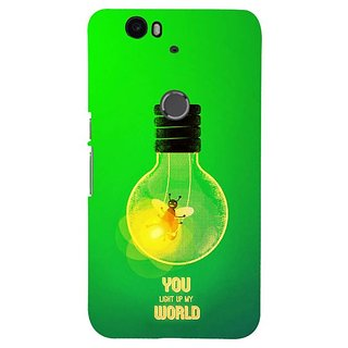 Fuson Designer Phone Back Case Cover Huawei Nexus 6P ( Firefly In The Light Bulb )