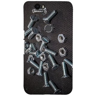 Fuson Designer Phone Back Case Cover Huawei Nexus 6P ( Nuts And Bolts On Display )