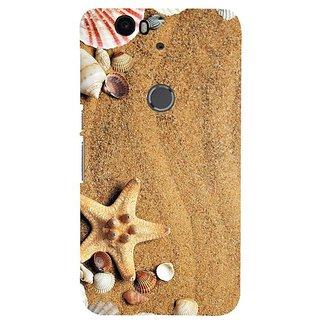 Fuson Designer Phone Back Case Cover Huawei Nexus 6P ( Sea Shells And Star Fish )