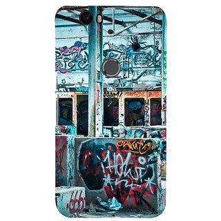 Fuson Designer Phone Back Case Cover Huawei Nexus 6P ( Cool Wall Graffiti )