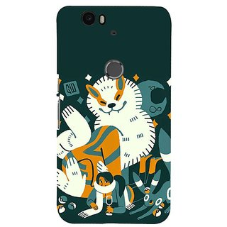 Fuson Designer Phone Back Case Cover Huawei Nexus 6P ( Bunny Love )