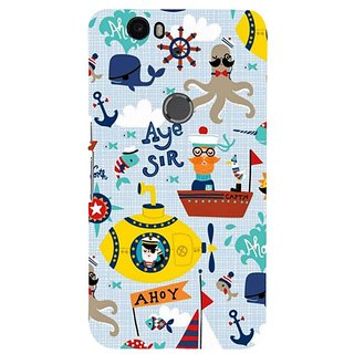 Fuson Designer Phone Back Case Cover Huawei Nexus 6P ( The Under Sea Life )