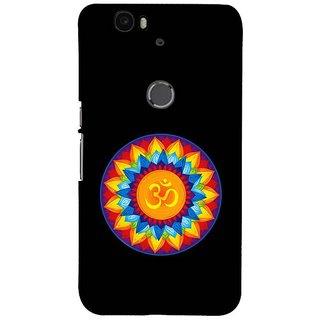 Fuson Designer Phone Back Case Cover Huawei Nexus 6P ( Vibrant Looking Om Symbol )