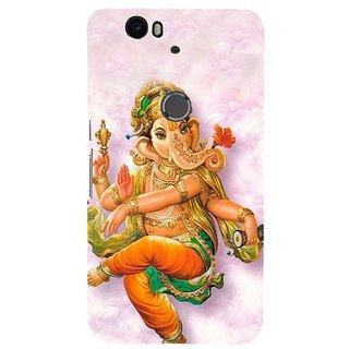Fuson Designer Phone Back Case Cover Huawei Nexus 6P ( Dancing Lord Ganesha )