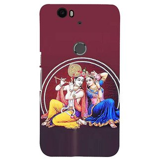 Fuson Designer Phone Back Case Cover Huawei Nexus 6P ( Art Of Radha And Krishna )