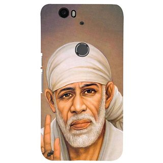 Fuson Designer Phone Back Case Cover Huawei Nexus 6P ( Potrait Of Sai Baba )