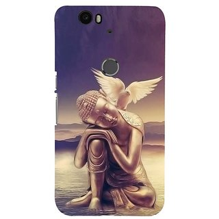 Fuson Designer Phone Back Case Cover Huawei Nexus 6P ( Lord Buddha With The Dove )
