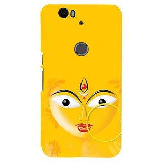Fuson Designer Phone Back Case Cover Huawei Nexus 6P ( Face Of Kali Mata )