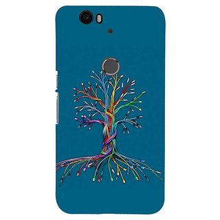Fuson Designer Phone Back Case Cover Huawei Nexus 6P ( Colourful Tree From Twisted Lines )