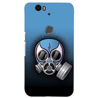 Fuson Designer Phone Back Case Cover Huawei Nexus 6P ( Wearing The Toxic Mask )