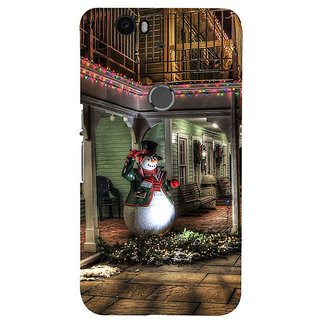 Fuson Designer Phone Back Case Cover Huawei Nexus 6P ( The Welcoming Snow Man )