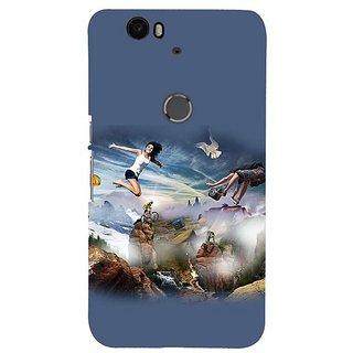 Fuson Designer Phone Back Case Cover Huawei Nexus 6P ( Surfing Across The Waves )