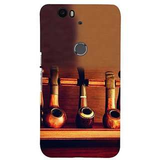 Fuson Designer Phone Back Case Cover Huawei Nexus 6P ( Wooden Tobacco Pipes Rack )