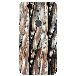 Fuson Designer Phone Back Case Cover Huawei Nexus 6P ( Threading Of Ropes )