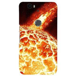 Fuson Designer Phone Back Case Cover Huawei Nexus 6P ( A Ball Of Fire )