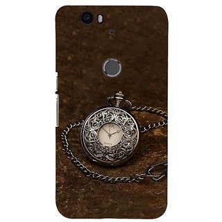 Fuson Designer Phone Back Case Cover Huawei Nexus 6P ( A Silver Pocketwatch )