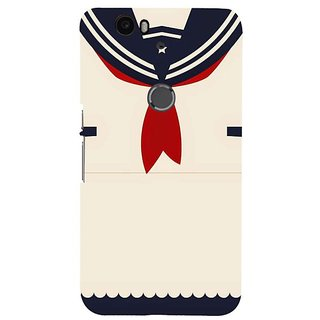 Fuson Designer Phone Back Case Cover Huawei Nexus 6P ( Sailor Shirt With Tie )