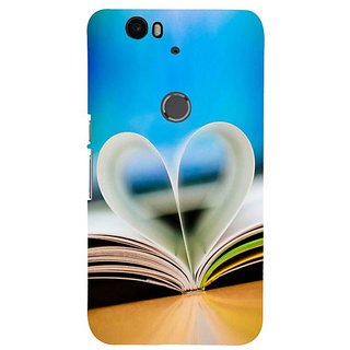 Fuson Designer Phone Back Case Cover Huawei Nexus 6P ( A Heart With Pages )