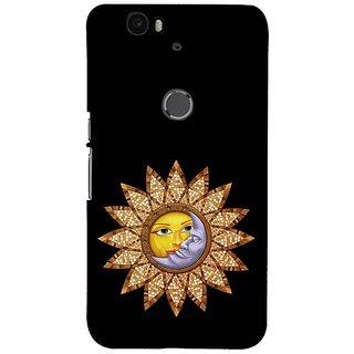Fuson Designer Phone Back Case Cover Huawei Nexus 6P ( Sun Moon Monogram )