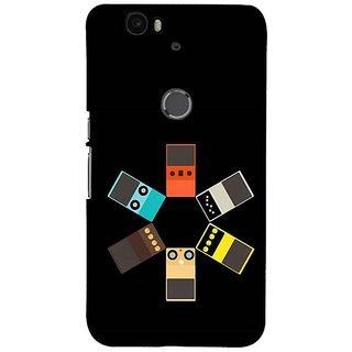 Fuson Designer Phone Back Case Cover Huawei Nexus 6P ( Funky Illustration )