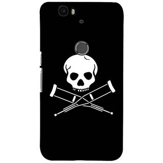 Fuson Designer Phone Back Case Cover Huawei Nexus 6P ( Skeleton With Crutches )
