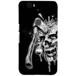 Fuson Designer Phone Back Case Cover Huawei Nexus 6P ( Self-Killing Man )