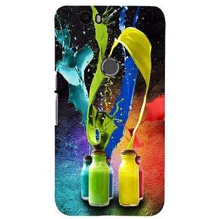 Fuson Designer Phone Back Case Cover Huawei Nexus 6P ( Color Spilling Bottles )
