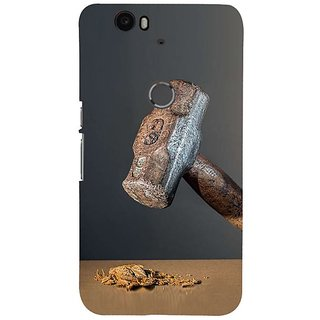 Fuson Designer Phone Back Case Cover Huawei Nexus 6P ( A Hammer Crushing Nut )