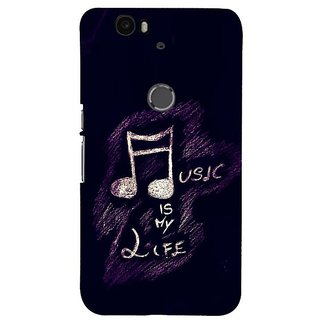 Fuson Designer Phone Back Case Cover Huawei Nexus 6P ( Music Illustrative Quote )