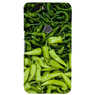 Fuson Designer Phone Back Case Cover Huawei Nexus 6P ( Green Chillies All Around )
