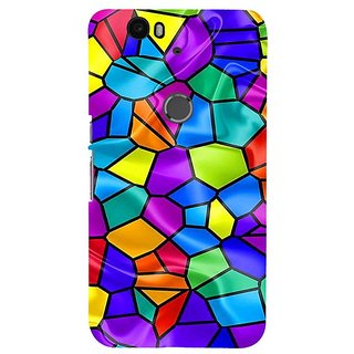 Fuson Designer Phone Back Case Cover Huawei Nexus 6P ( An Animated Mosaic )