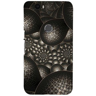 Fuson Designer Phone Back Case Cover Huawei Nexus 6P ( Carbon Black Patterns )