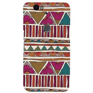 Fuson Designer Phone Back Case Cover Huawei Nexus 6P ( Ethnic Designs And Flowers )
